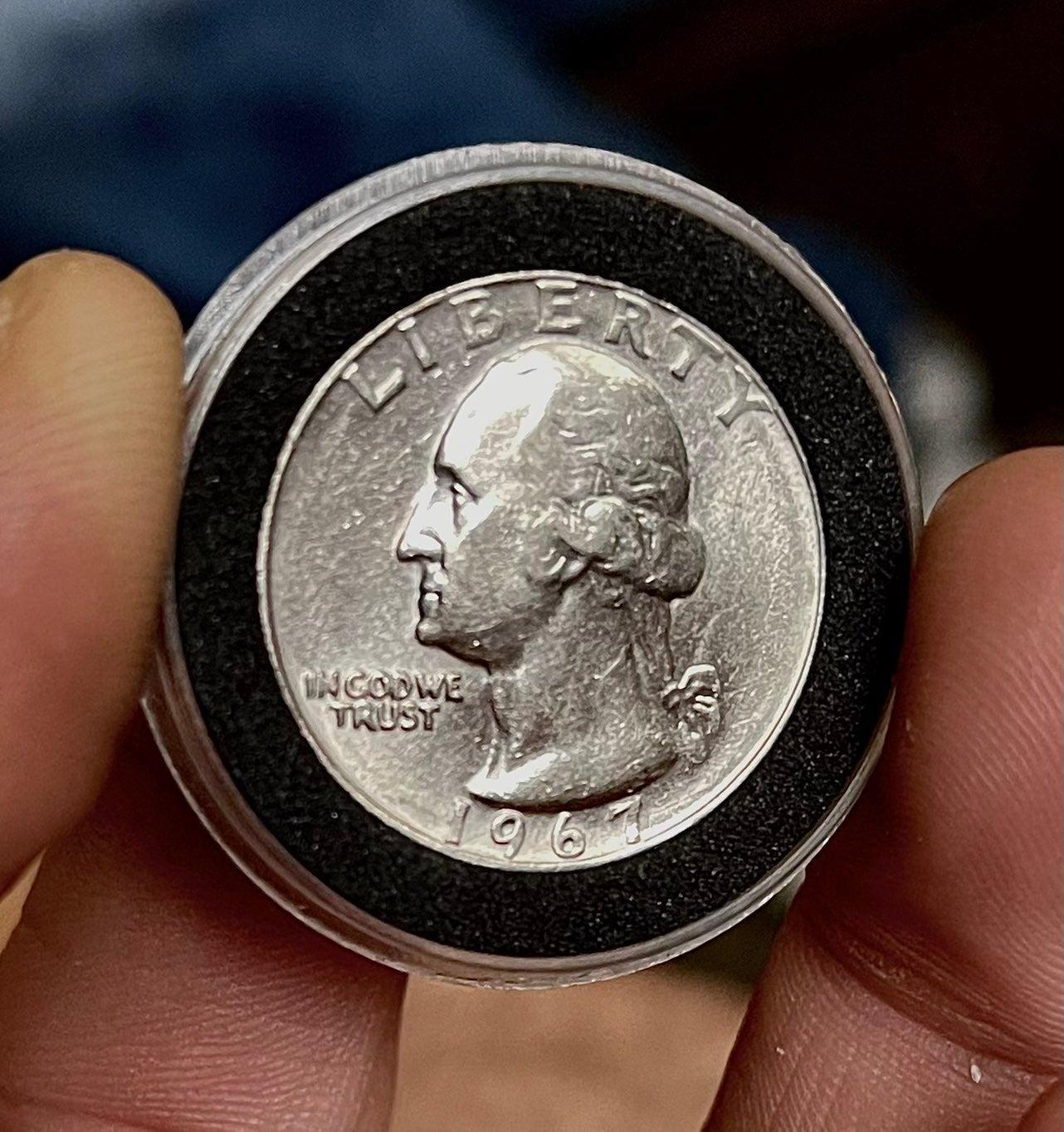 BU 1967 Spitting eagle Quarter