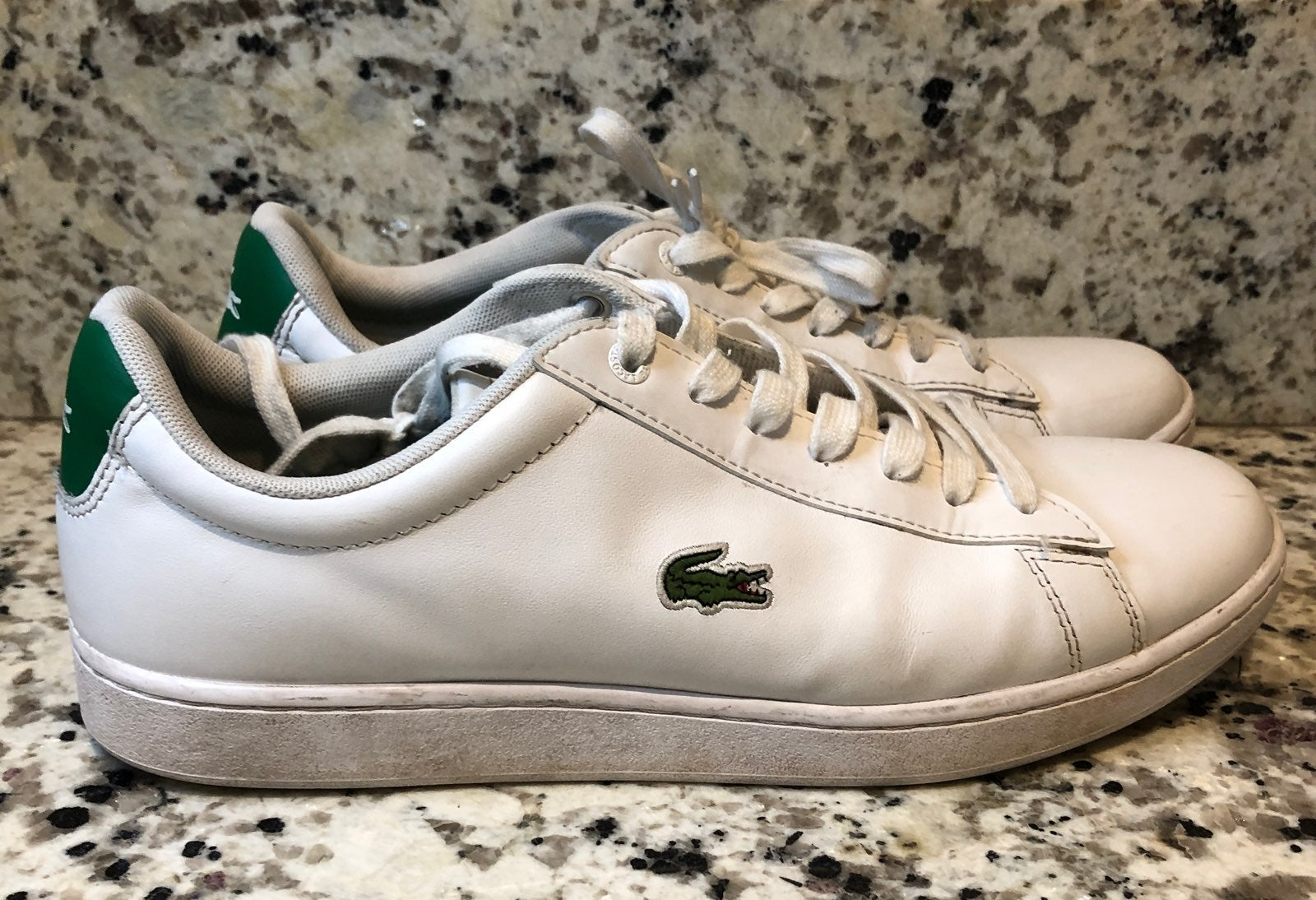Lacoste Hydez White Green Leather Sz 10
