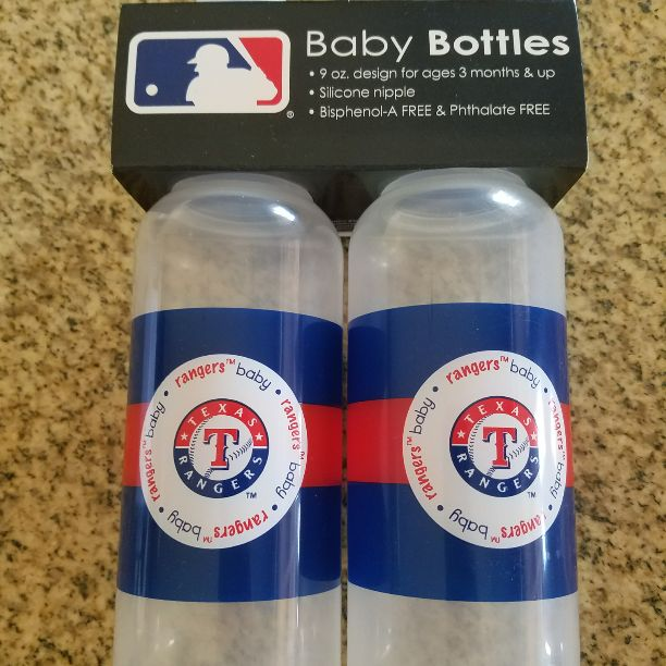 Texas Rangers 9oz Baby Bottles