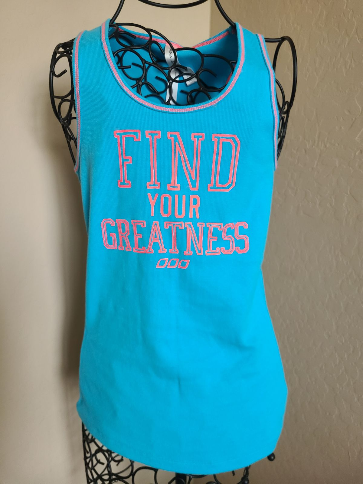 NWT lorna jane Tank Blue find your great