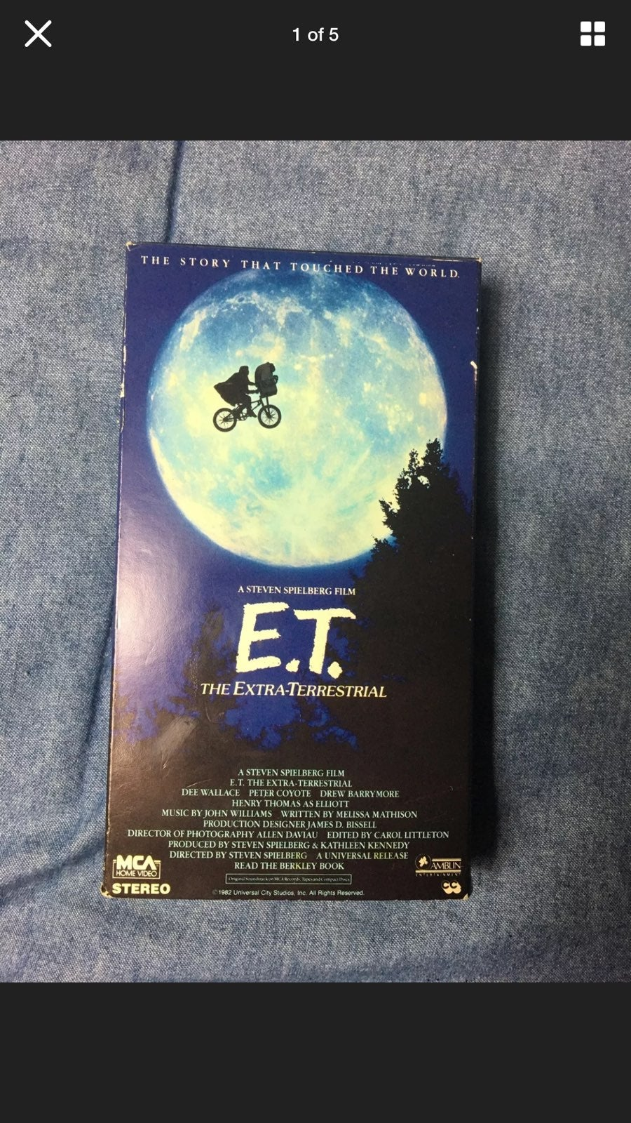 E.T. The Extra-Terrestrial (VHS 1982)