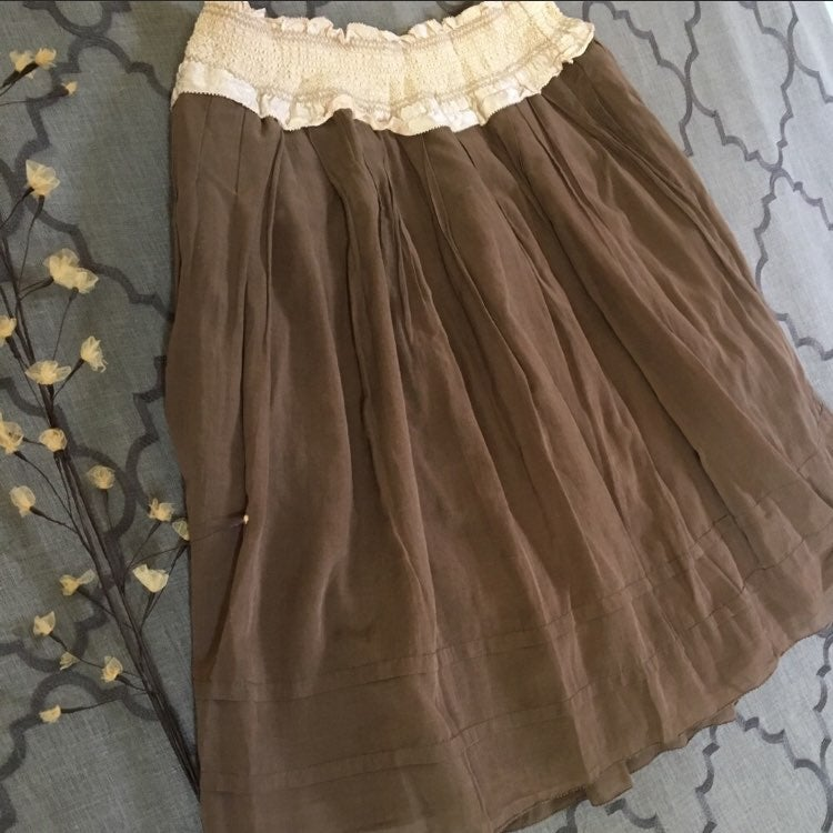❣️❣️Soft Chocolate Mousse Silk Skirt