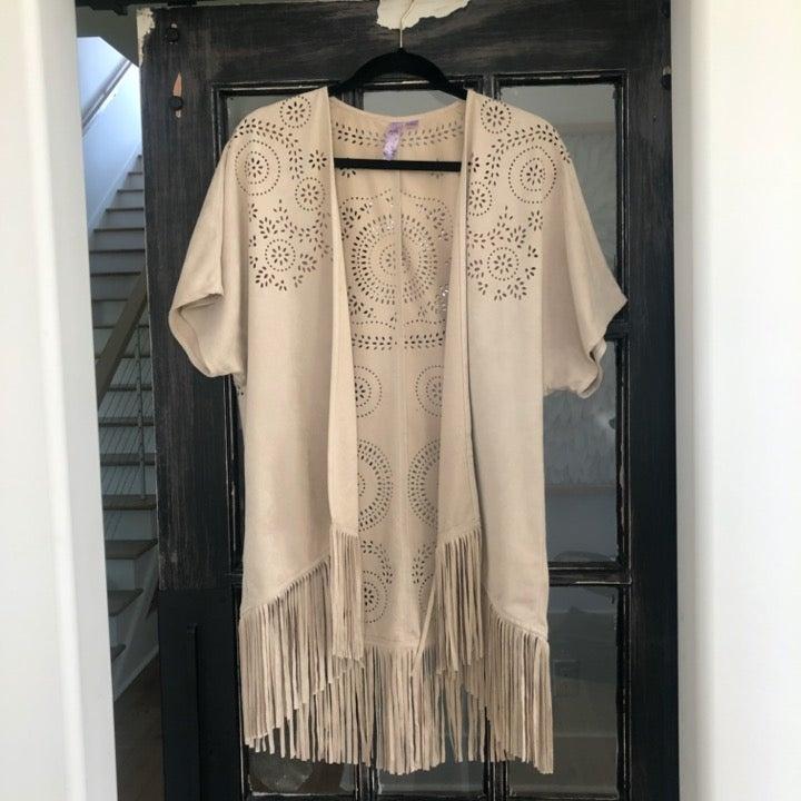 Fringe Detailed Kimono
