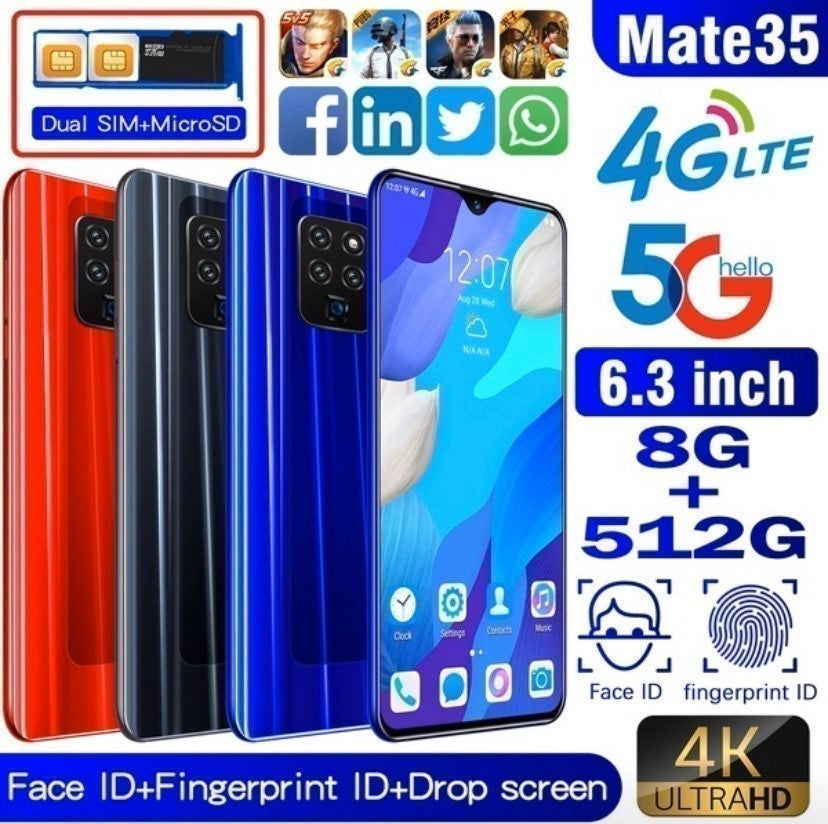 (Light Blue) Android Smartphone/512 Gig