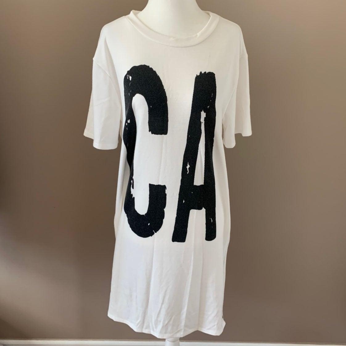 California tshirt dress