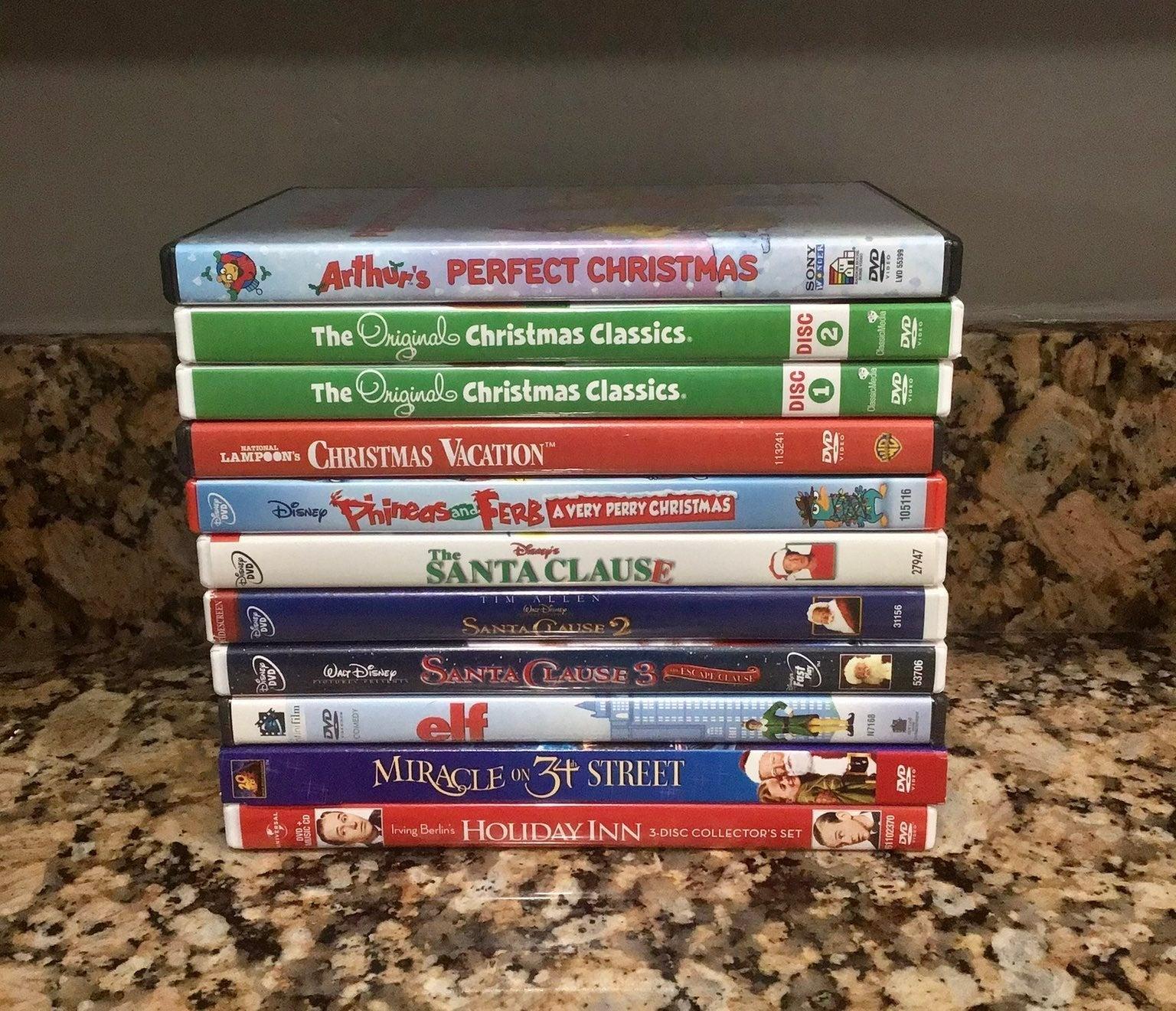 Lot of 11+ Family Christmas DVD's