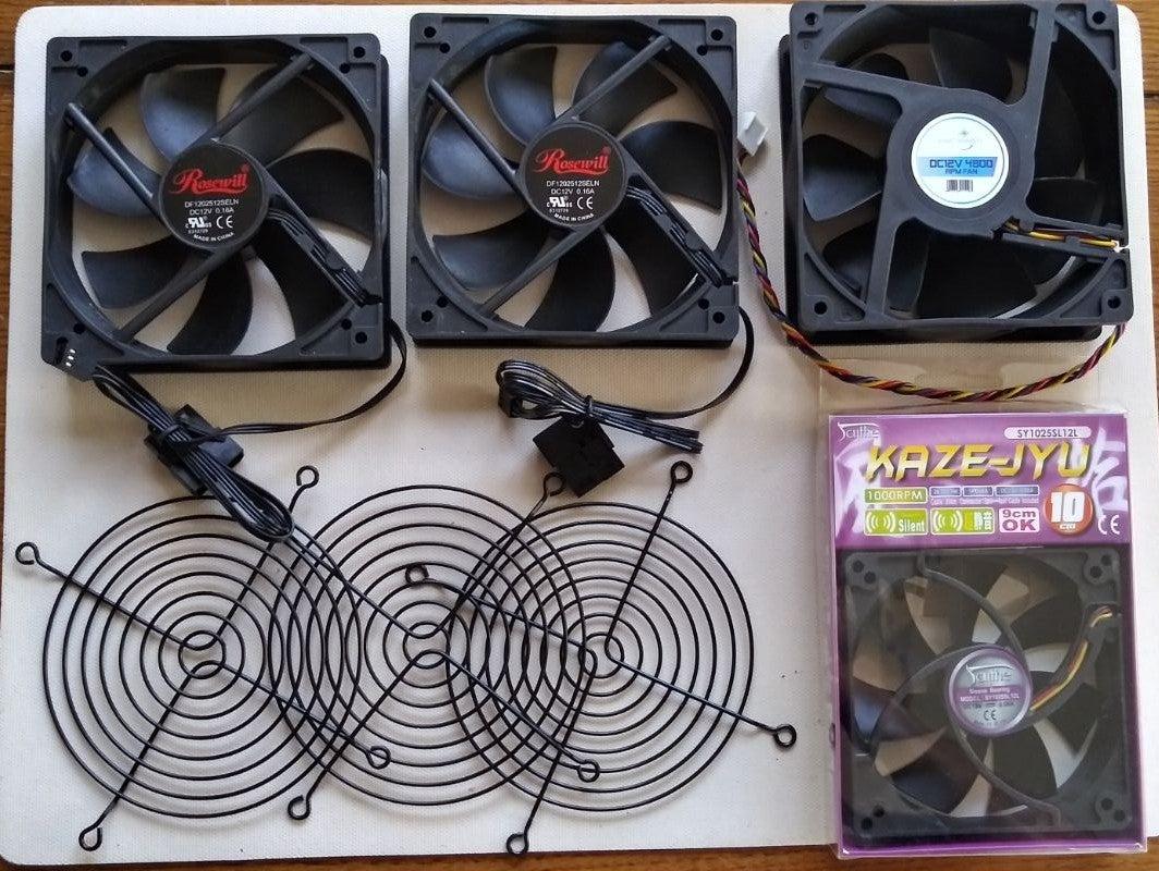 Four DC12V Case Chasis Fans