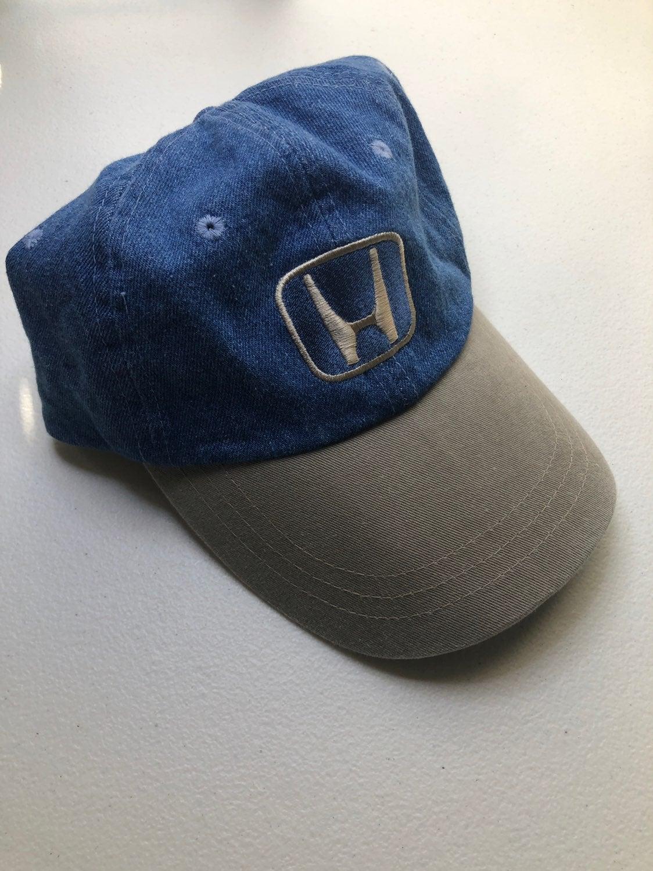 Vintage honda denim strapback hat