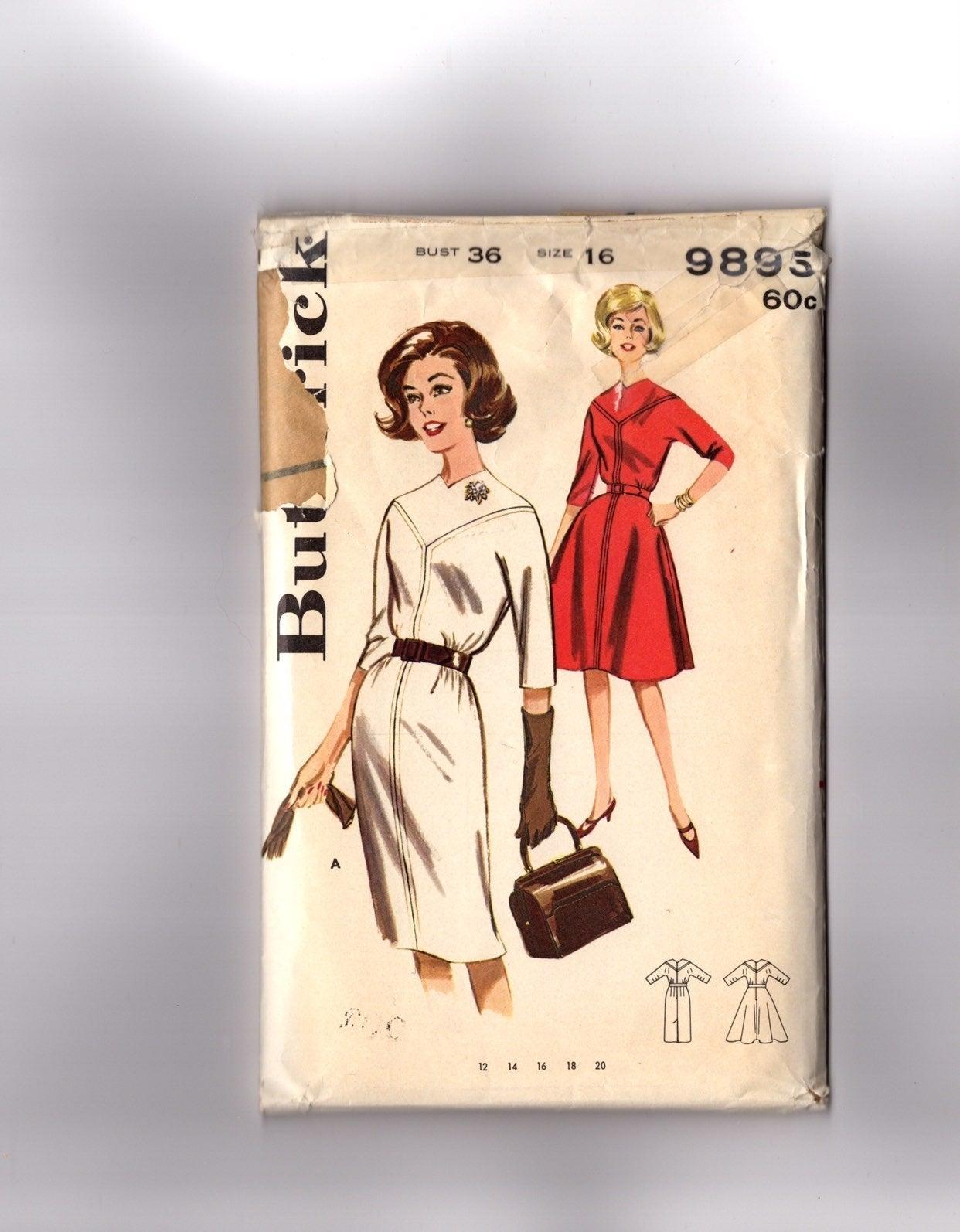 Vintage Pattern 1960s Career Dress