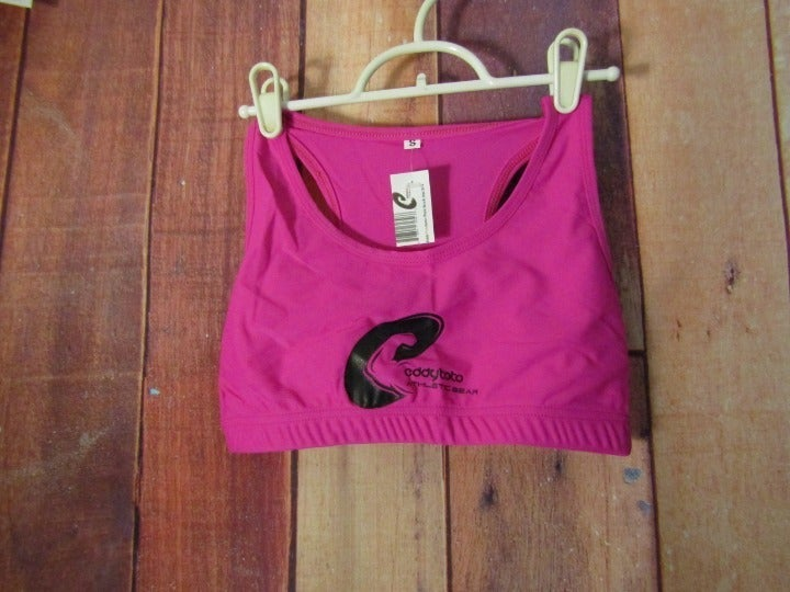 NWT Eddy Toto Pink Work Out Bra Sz Small