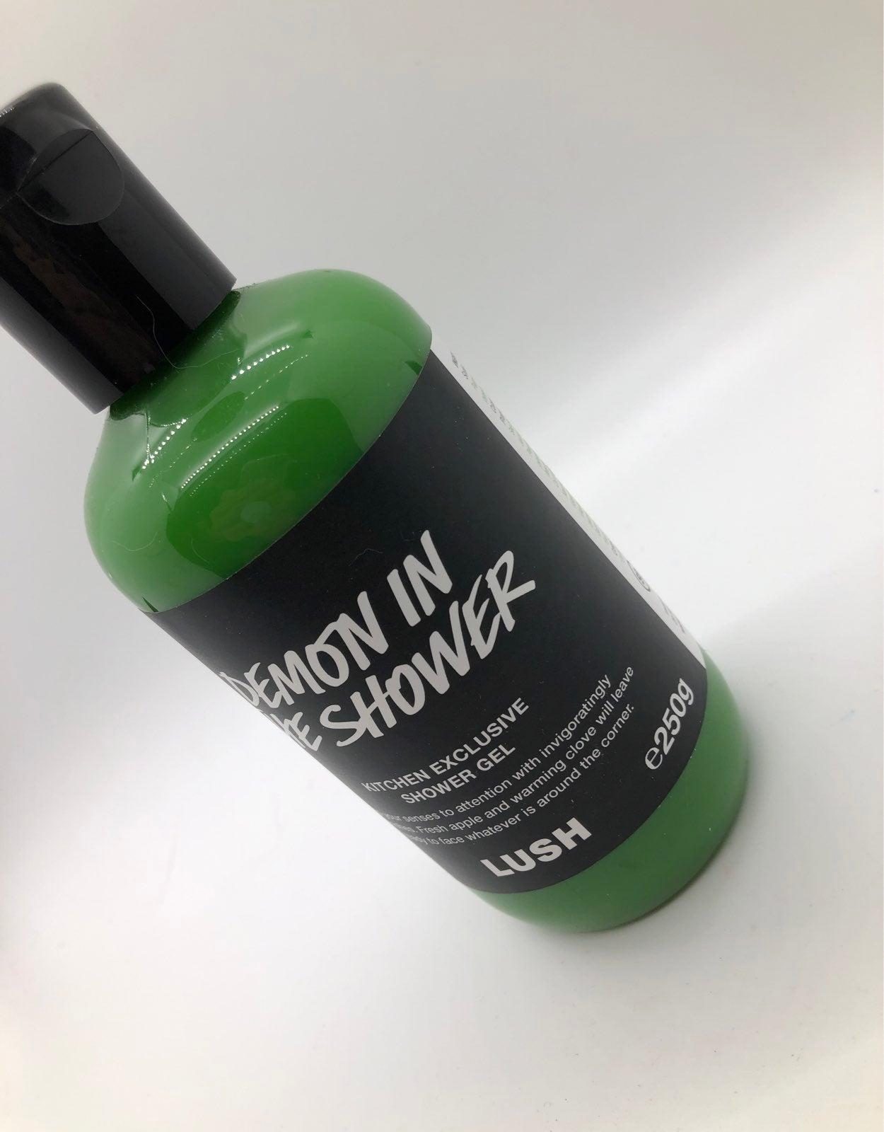 Lush demon in the shower dark shower gel