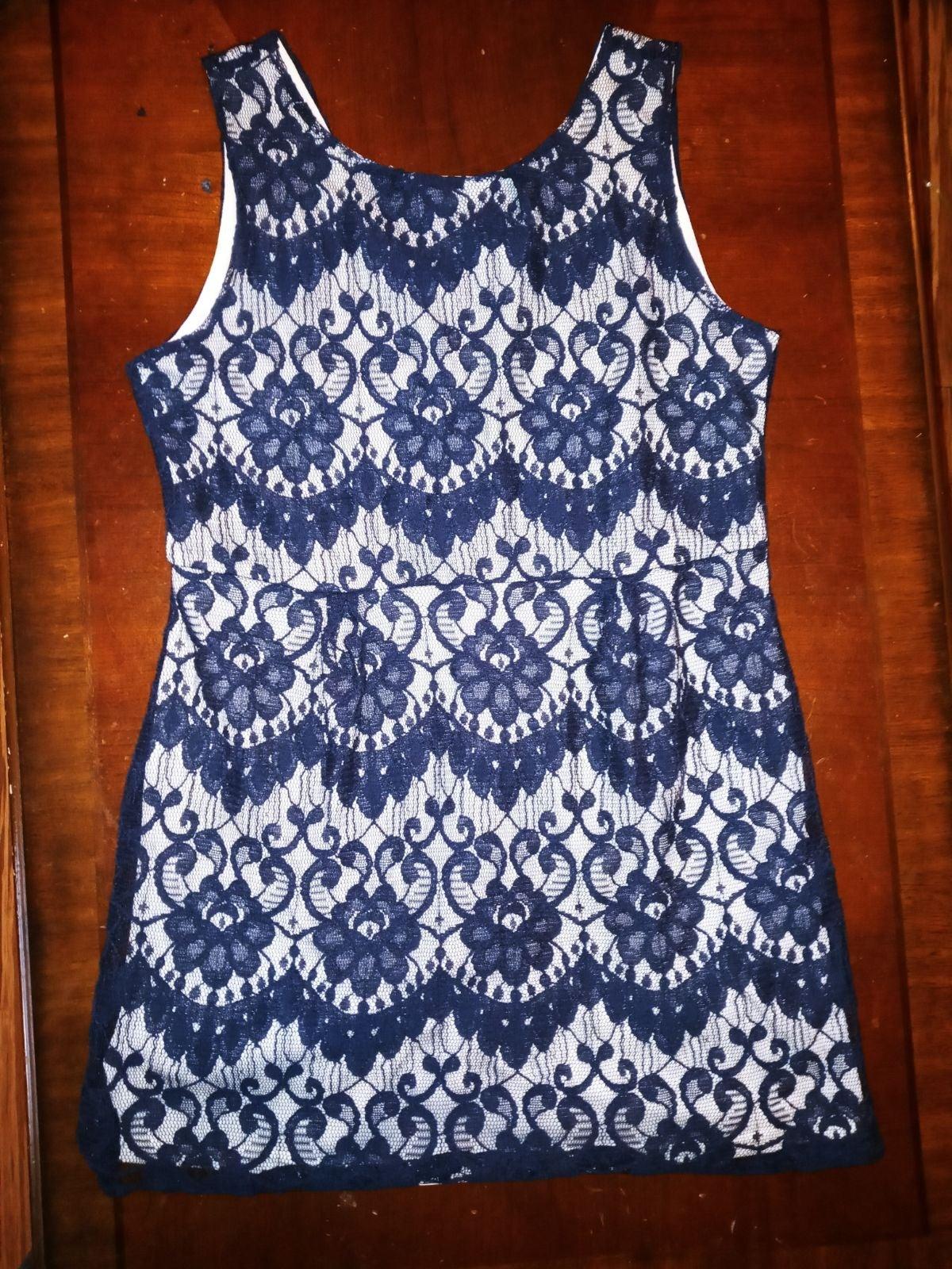 Navy Lace Mini Dress NWT