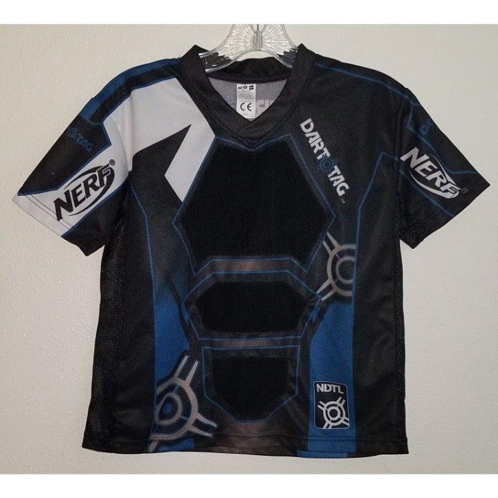 NERF Dart Tag Jersey Blue Black Shirt SM