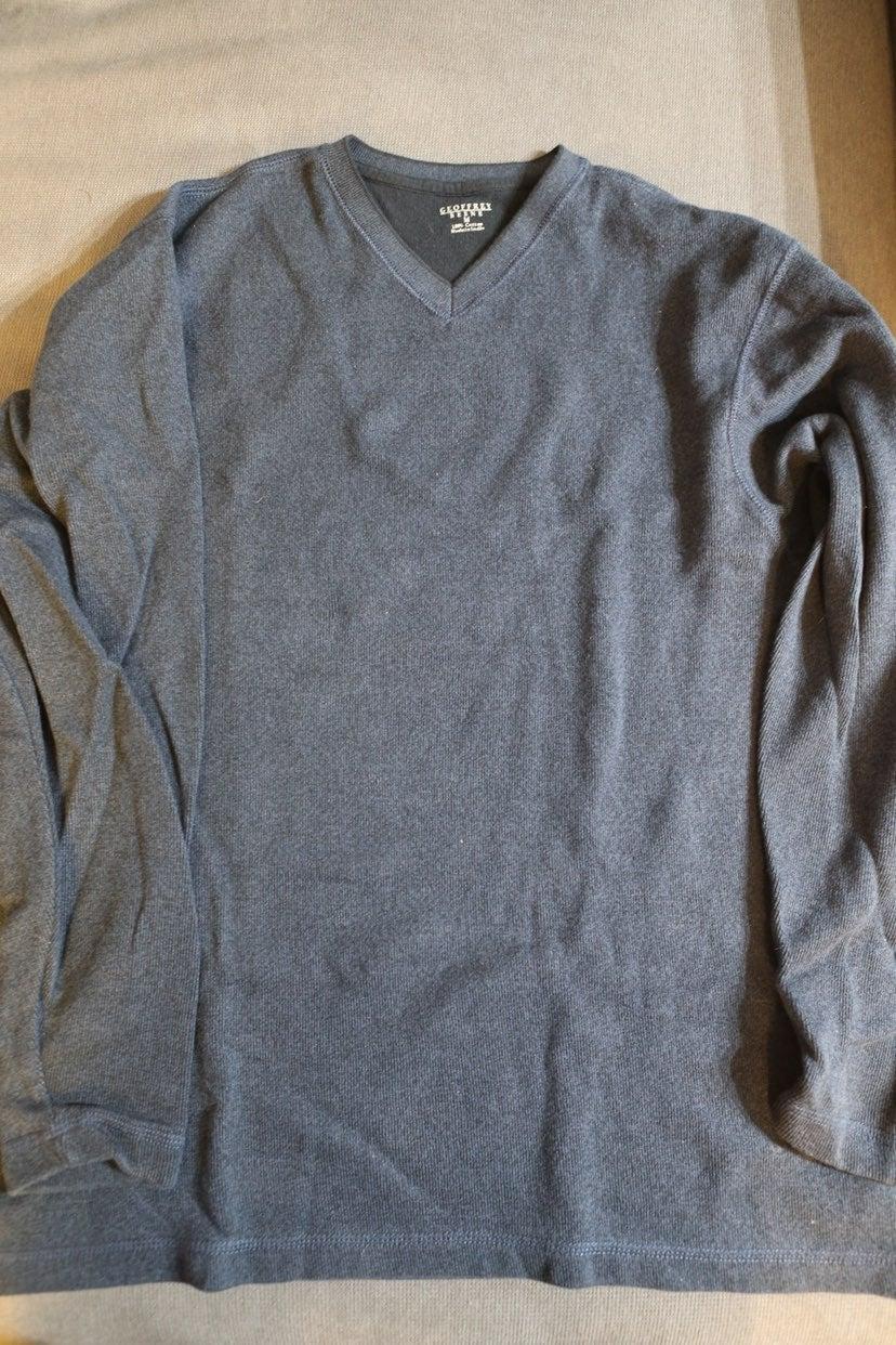 Navy Blue V Neck Sweater Geoffrey Beene