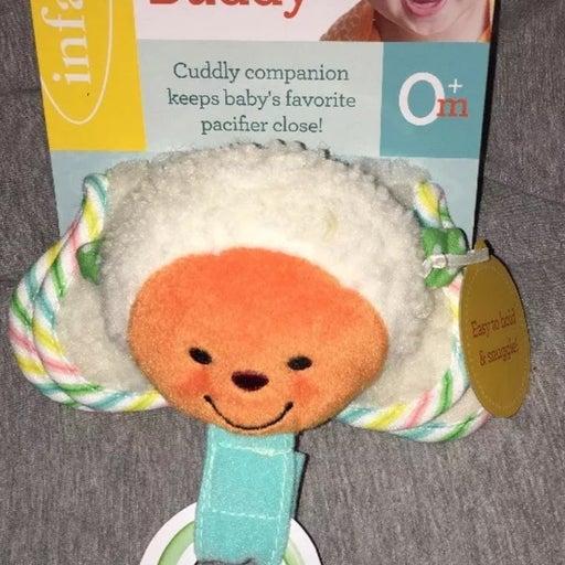 Infantino Lamb Pacifier Binky Buddy New