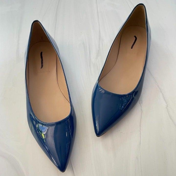 J. Crew Viv Patent Leather Flats in Blue