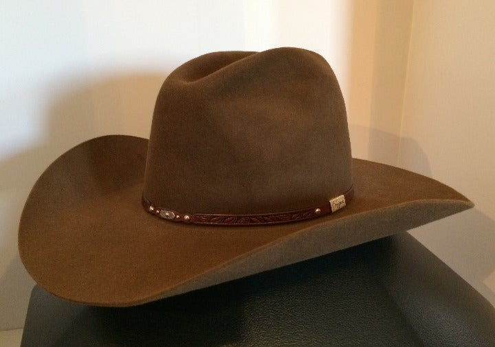 Resistol 6X George Strait Cowboy Hat Brown Size 7-3/8 (Store Price $240.00)
