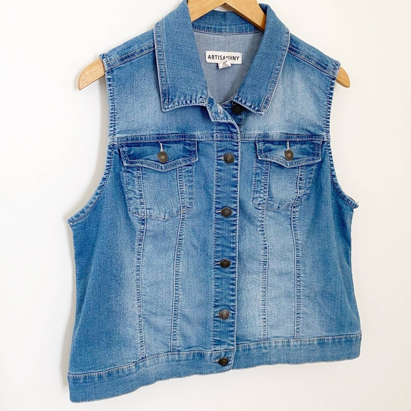Artisan NY Denim Vest - Like New