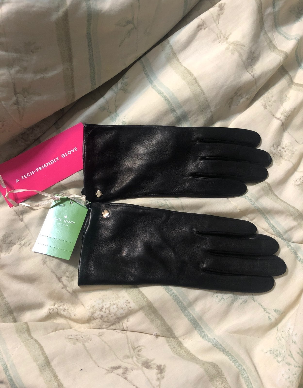 Kate Spade Leather Tech Gloves