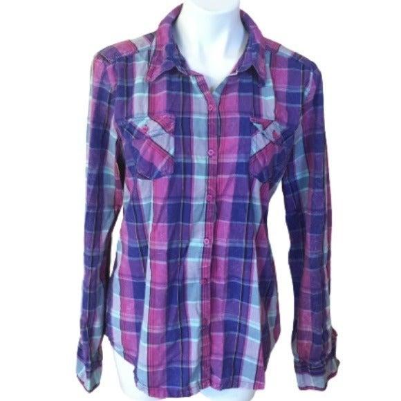Lei Plaid Button Down Shirt