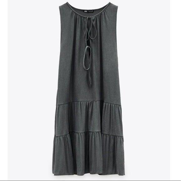 NWT Zara Flowy Mini Sleeveless Dress