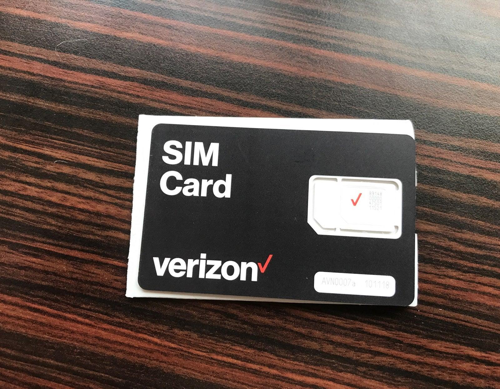 Verizon Iphone SIM card