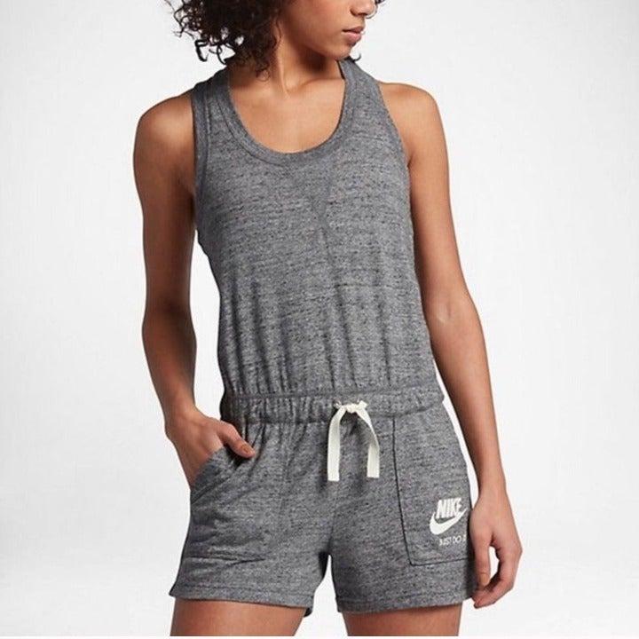 Nike Gray Romper Cotton Blend XS