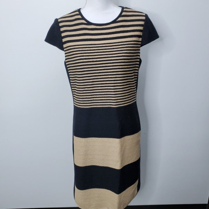 Per Se Textured Cotton Cap Sleeve Dress