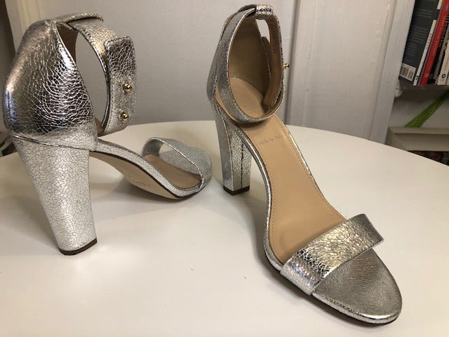 JCrew Silver Sandals