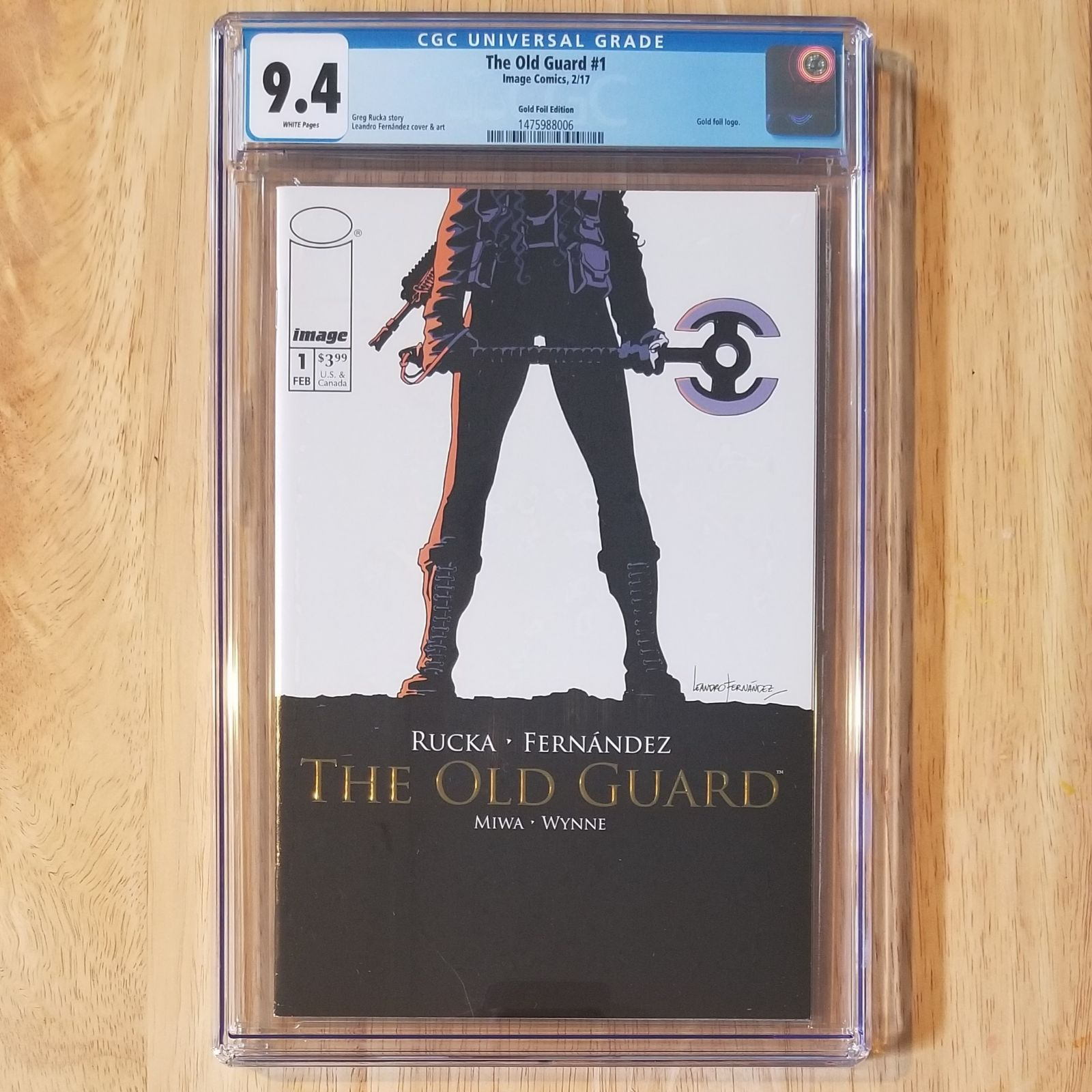 The Old Guard 1 gold foil CGC 9.4
