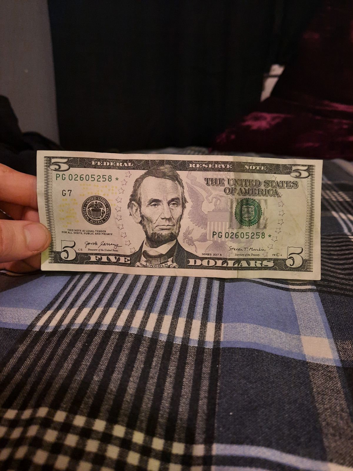 5 dollar star note