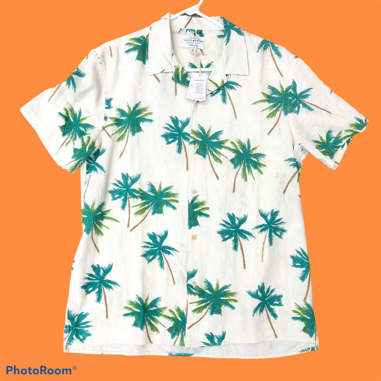 New Mens Lucky Brand Tropical Palm Tree
