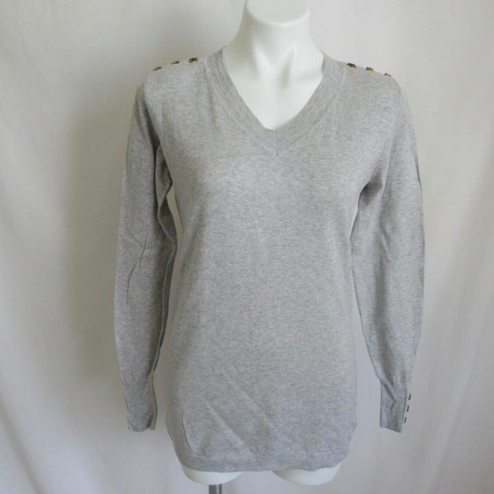 CAbi PREP SCHOOL Gray Sweater Women's S