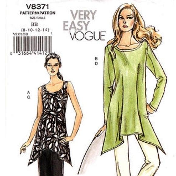 Pattern Vogue Tunic, Skirt Pants Sewing