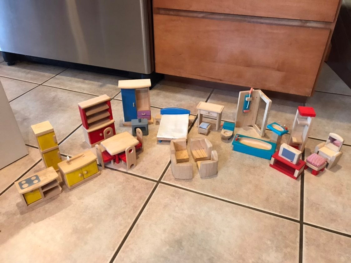 Plan Toys Wooden Doll Furniture