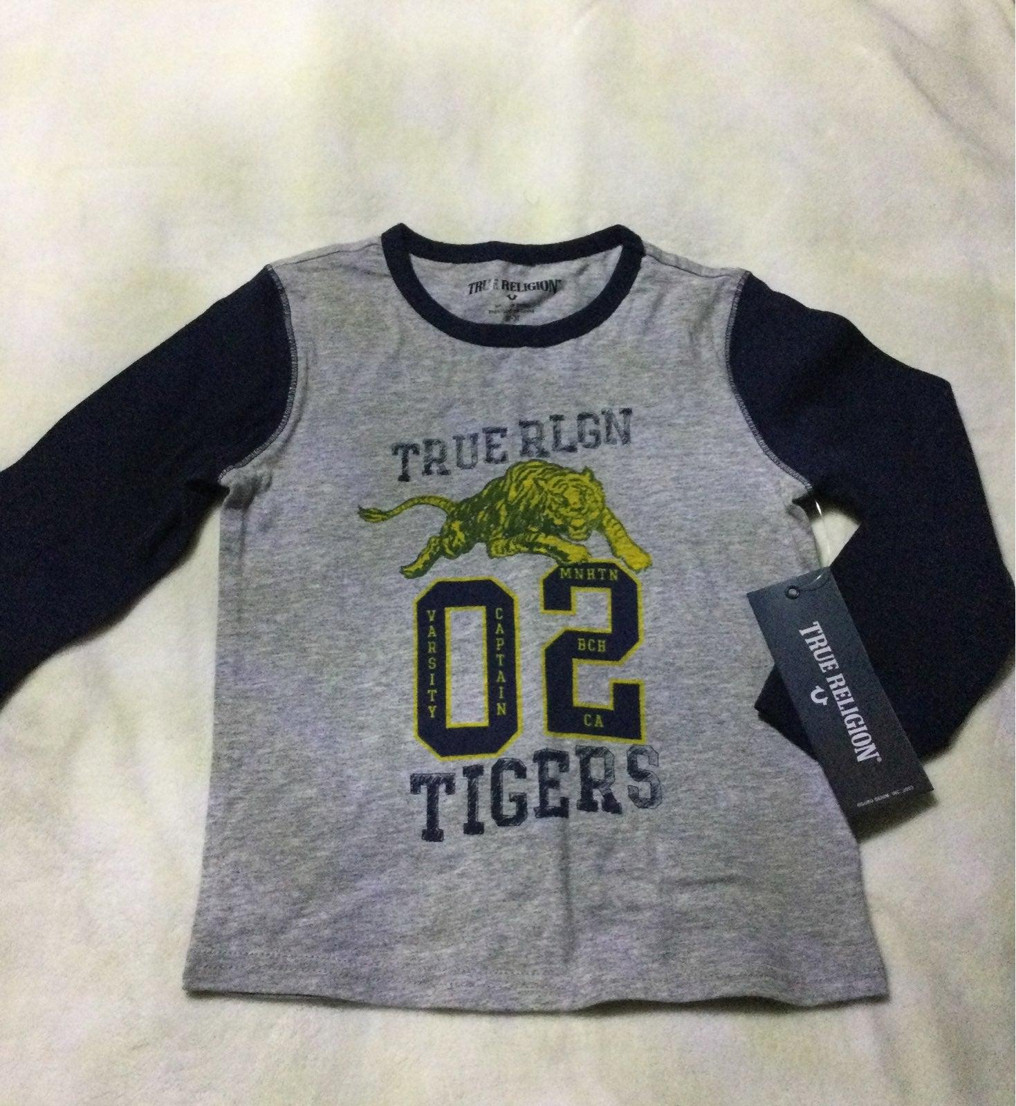 True Religion Boys Varsity Tiger Long Sl