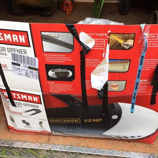 Craftsman 1/2 hp chain drive garage door