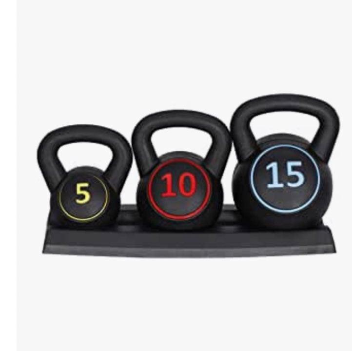 Kettlebell weight Set 5 10 15 bundle 30