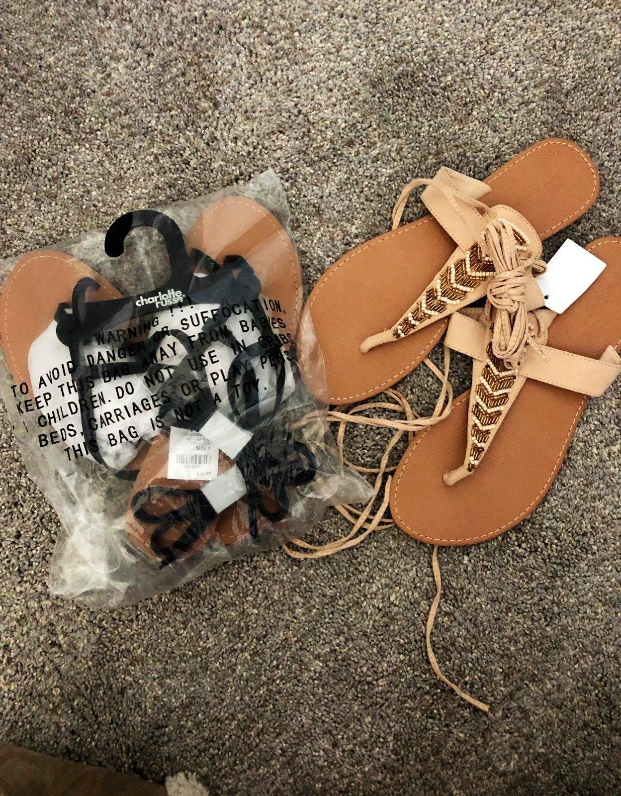NWT gladiator sandals