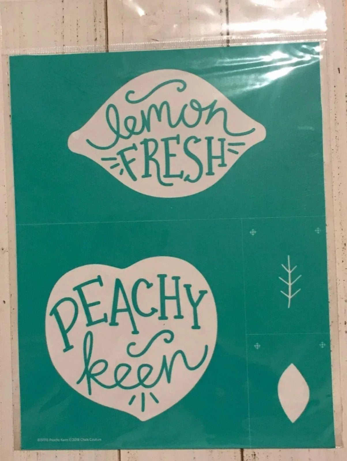 NEW CHALK COUTURE PEACHY KEEN TRANSFER