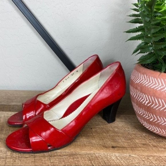 Taryn Rose Red Patent Leather Heel