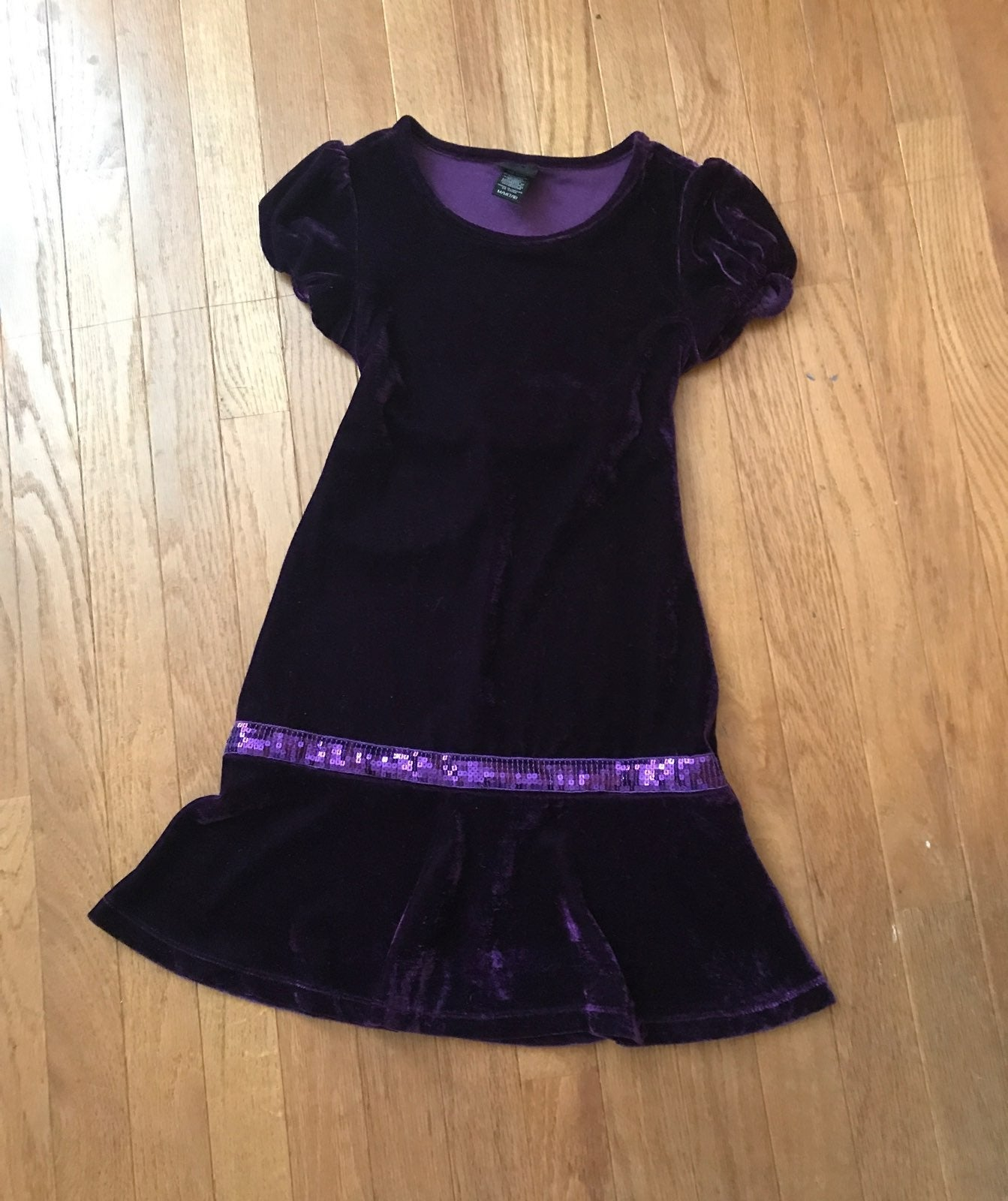 Girls' Purple velvet dress size 7/8