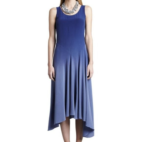 Eileen Fisher Sapphire Ombre 100% Silk