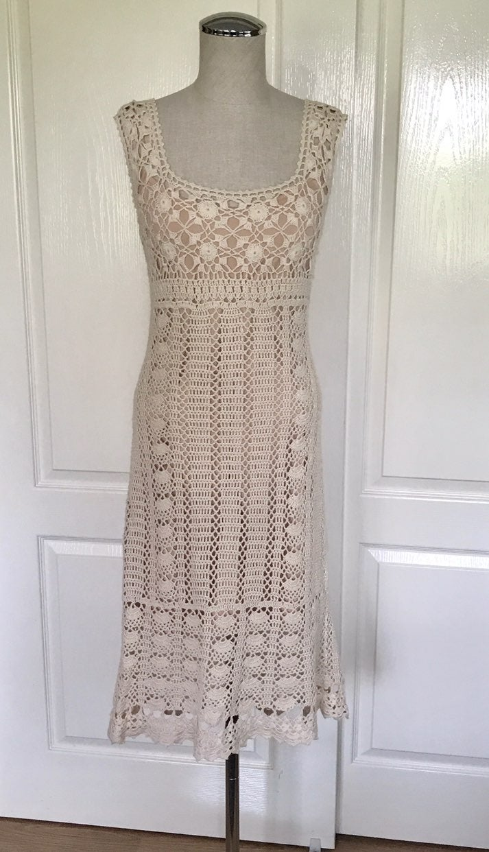 Moda International Crochet MIDI Dress