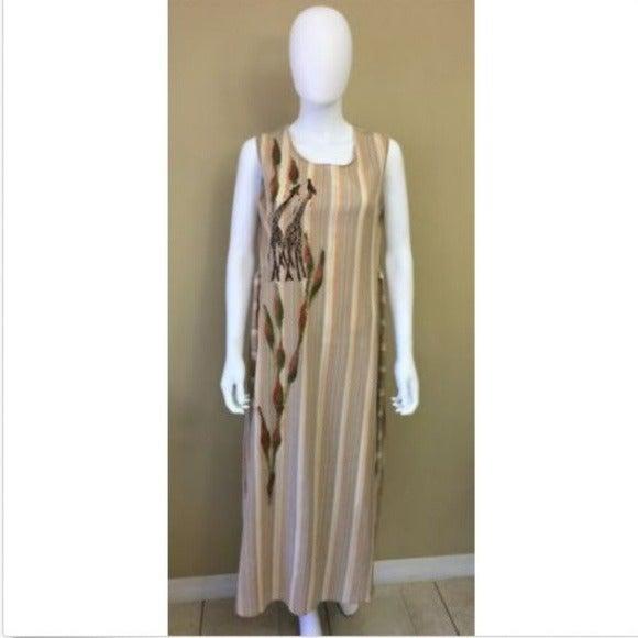 Swagger Women's Dress Giraffe Vintage LG