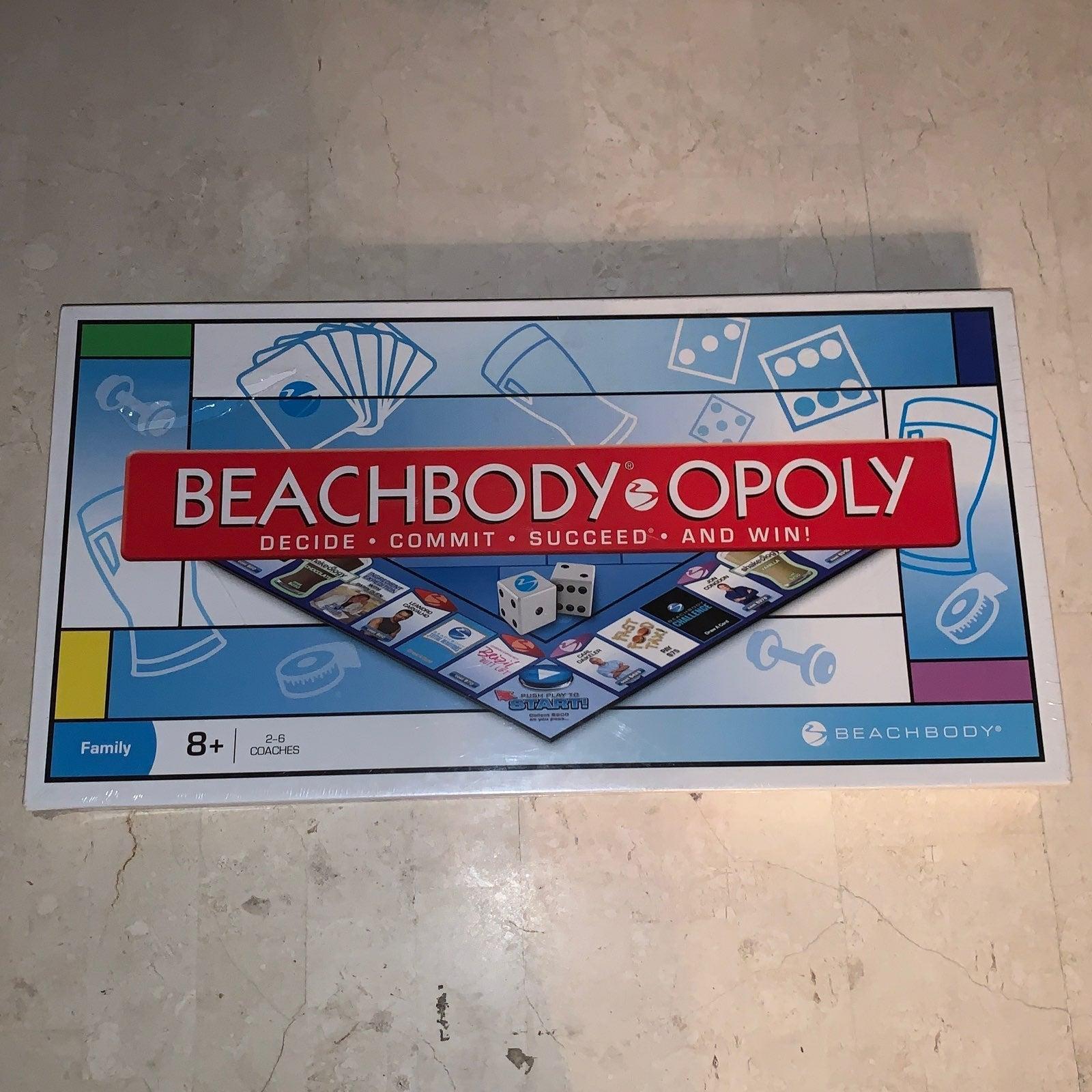 Beachbody Monopoly Board Game New/Sealed