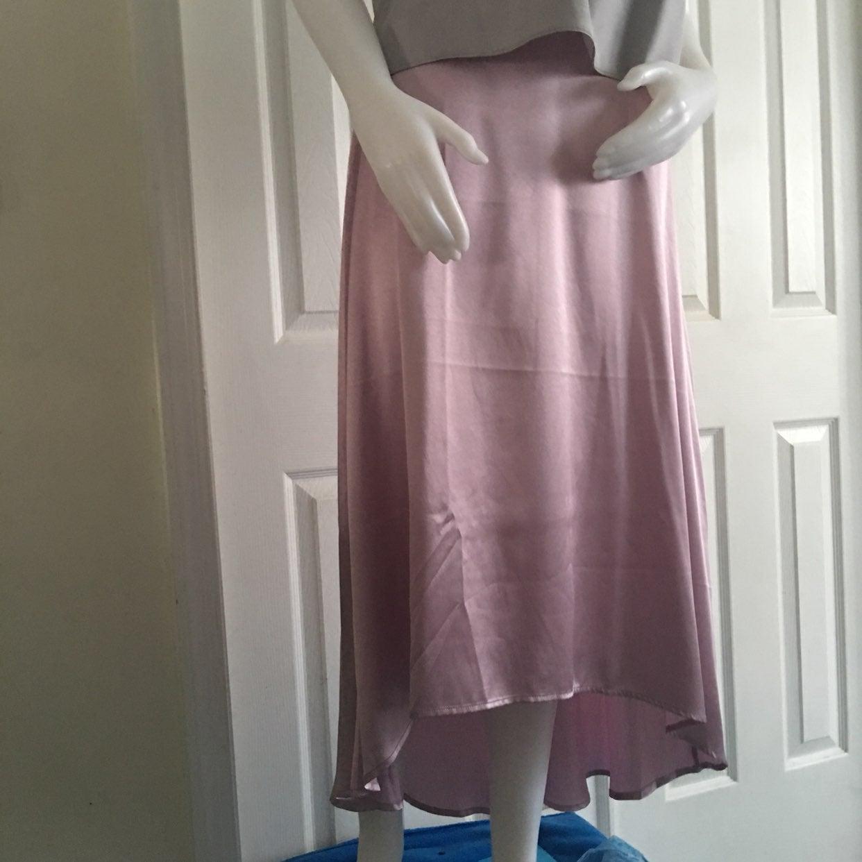 Forever 21 Pink Satin Skirt Jr L