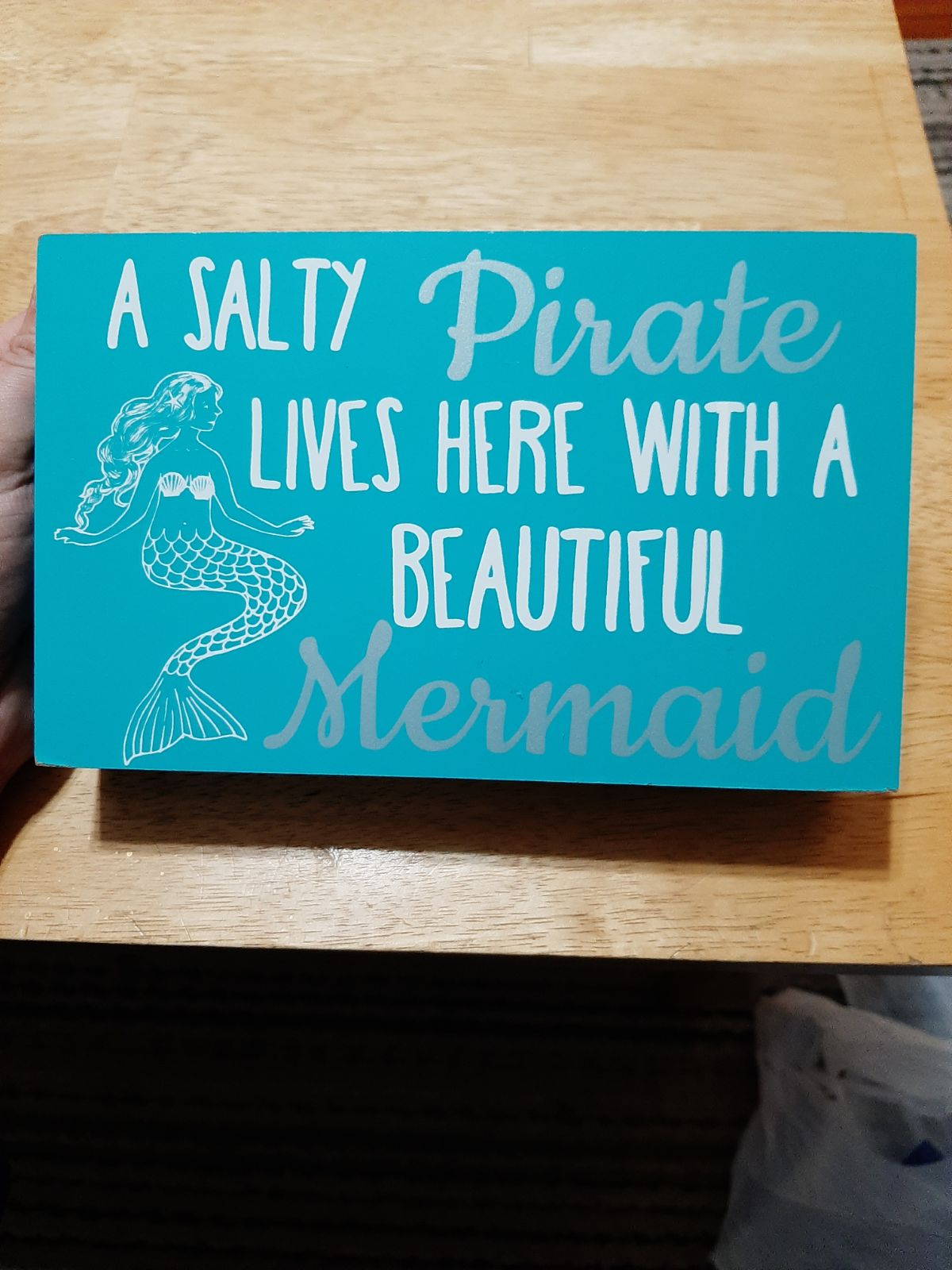 Pirate Mermaid Wood Box Art