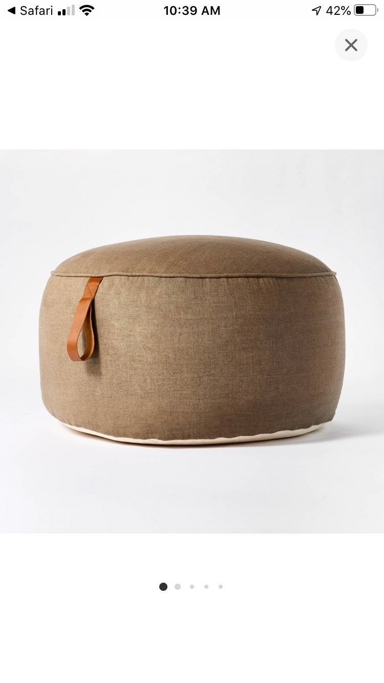 Studio McGee Pouf with handles
