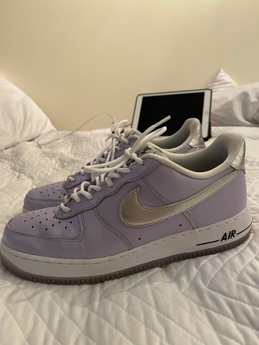 Purple nike air forces